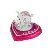 16 St. Kristall-Schwein auf Pralinenherz