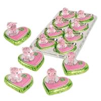 16 St. Glas-Schwein auf Pralinenherz