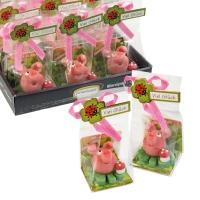 24 St. Marzipan-Schweinchen auf Kleeblatt