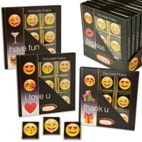 """Chocolate-Praliné-Präsent """"Emoticons"""", mit Napolitains"""