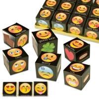 """Würfel """"Emoticons"""", sortiert, gefüllt mit Napolitains"""