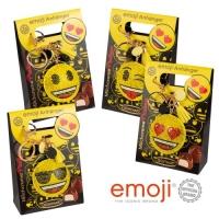 Schlüsselanhänger Emoji an Box, gefüllt mit Pralinen