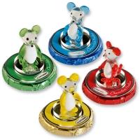 16 St. Kristallglas-Mäuse auf Pralinentaler