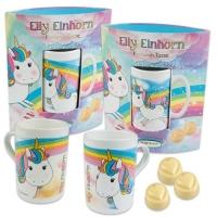 """Tasse """"Elly Einhorn"""", gefüllt mit Pralinen"""