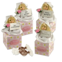 Porzellan-Krankenschwester auf Box