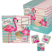 Chocolate Praliné Präsent Flamingo mit Napolitains