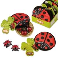 Plüschtäschchen Käfer, gefüllt mit Schoko-Käfern
