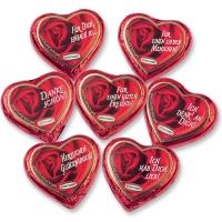 80 St. Grosse Pralinen-Herzen, rot