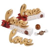10 St. Holz-Dekoration  love  auf Box