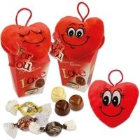 12 St. Plüschherz  Love  auf Box, sortiert