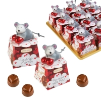 12 St. Porzellan-Maus auf Box, sortiert