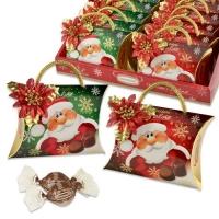 12 St. Pralinen-Täschchen  Nikolaus , sortiert, gefüllt mit feinen Pralinen