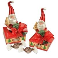 12 St. Porzellan-Nikolaus auf Box mit feinen Pralinen
