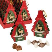 12 St. Pralinenpräsent  Weihnachten  gefüllt mit feinen Pralinen
