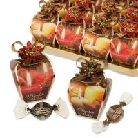 16 St. Pralinen-Präsentbox  Kerzen , sortiert, mit feinen Pralinen