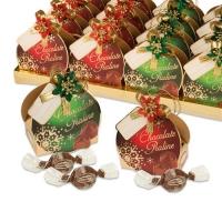 16 St. Pralinen-Täschchen  Weihnachten , sortiert, mit feinen Pralinen