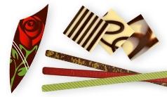 Aufleger aus Schokolade