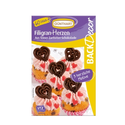 12 St. Filigran-Herzen, Schokolade