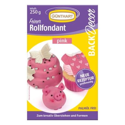 8 St. Rollfondant rosa, 250 g