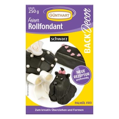 8 St. Rollfondant schwarz, 250 g