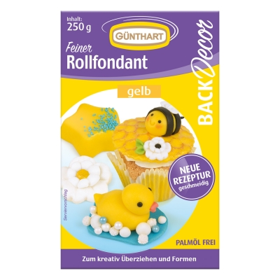 8 St. Rollfondant gelb, 250 g