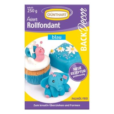 8 St. Rollfondant blau, 250 g