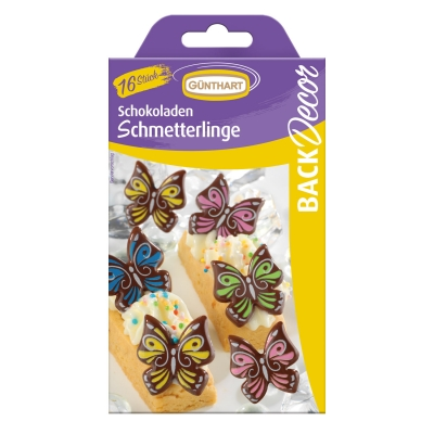 15 Schmetterlinge, dunkle Schokolade