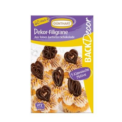 Dekor-Filigrane, Schokolade