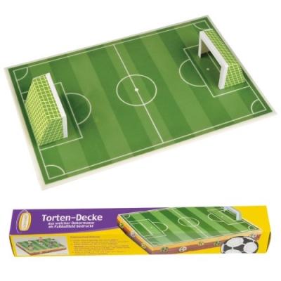 9 Tortendecke Fußballfeld mit 2 Toren aus Papier