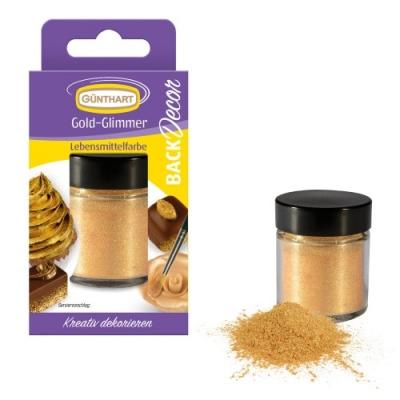 6 Gold-Glimmer, Lebensmittelfarbe