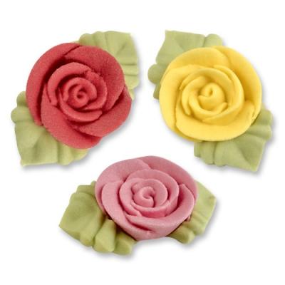 54 St. Rosen m.Blät.rot,gelb,rosa