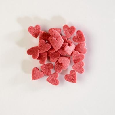 1,5 kg Streudekor Zucker-Herzen rot