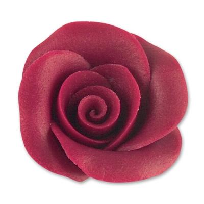 24 St. Marzipan-Rosen bordeaux groß