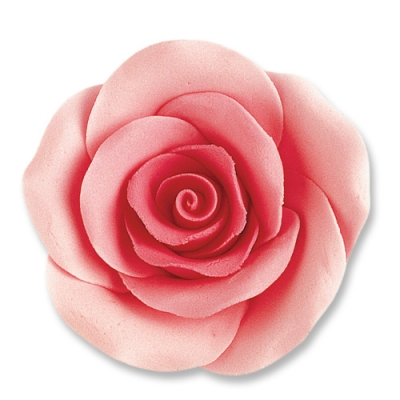24 St. Feinzucker Rosen gross rosa