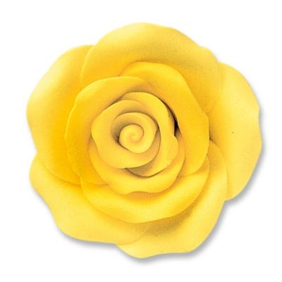 24 St. Feinzucker Rosen gross gelb