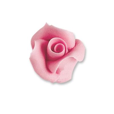24 St. Fein-Tragantzucker Rosen rosa, klein