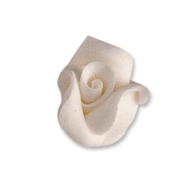 24 St. Fein-Tragantzucker Rosen weiß, klein