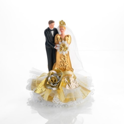 1 St. Brautpaar Goldene-Hochzeit