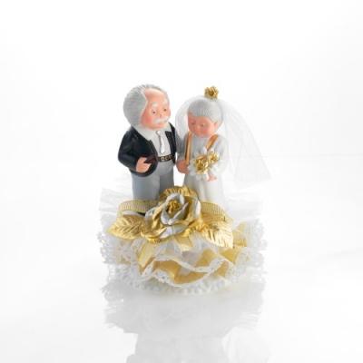 1 St. Porzellan-Brautpaar-Aufsatz  Zur goldenen Hochzeit