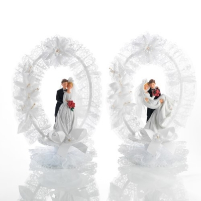 2 St. Poly-Brautpaar-Aufsatz