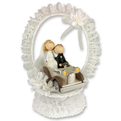 1 St. Poly-Brautpaaraufsatz mit Auto