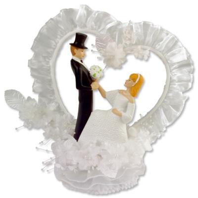 1 St. Brautpaaraufsatz mit Herzkranz