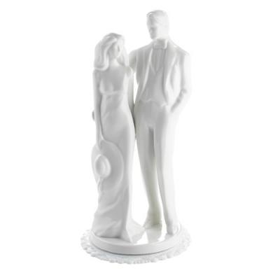 1 St. Porzellan-Brautpaaraufsatz gr. weiß