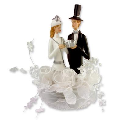 1 St. Poly-Brautpaaraufsatz,weiss