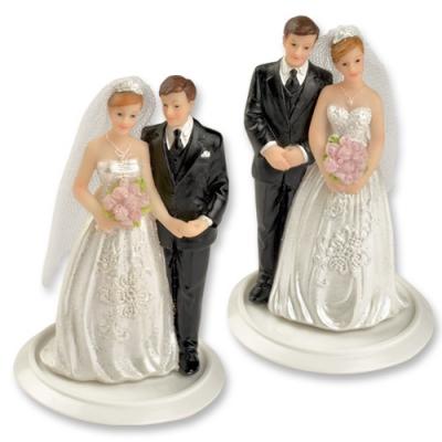 4 St. Poly-Brautpaaraufsatz klein
