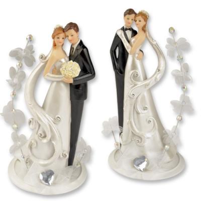 2 St. Poly-Brautpaaraufsatz, groß