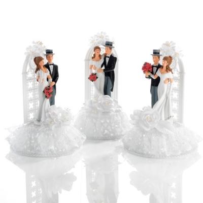 3 St. Poly-Brautpaar-Aufsatz