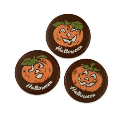 Halloween-Kürbisse, dunkle Schokolade, sortiert