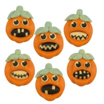 72 St. Zucker-Kürbisse  Halloween , flach, sortiert