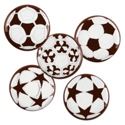 Aufleger Fußball, dunkle Schokolade, sortiert
